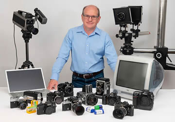 Pete and his collection of cameras